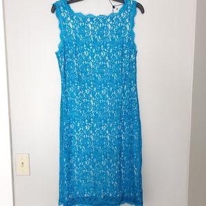 Blue Adrianna Papell sleeveless dress